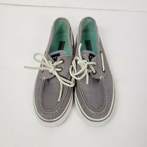 Sperry Top-Sider gray canvas Boat Shoes Loafers 5